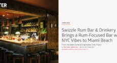 ,,Swizzle Rum Bar & Drinkery Brings a Rum-Focused Bar with NYC Vibes to Miami Beach""